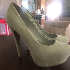 TOP SHOP Platform suede heels